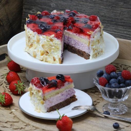 Fruchtige Beeren-Torte