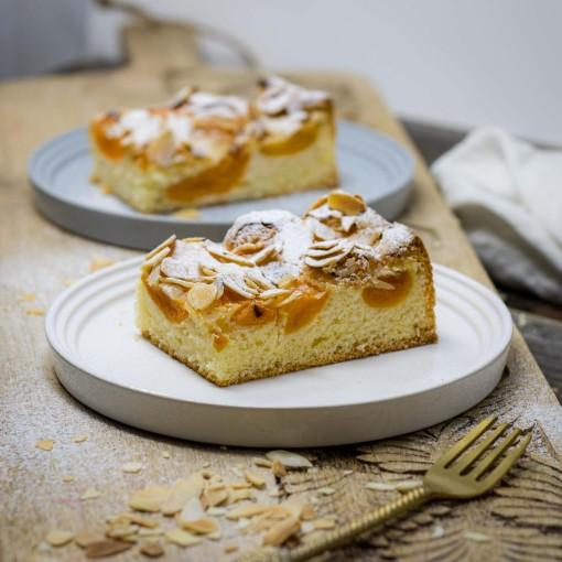 Marillen-Kuchen vom Blech