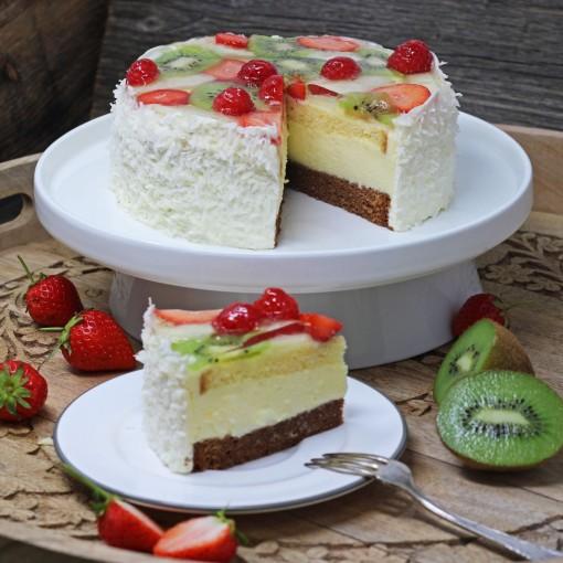 Sommerliche Obst-Torte