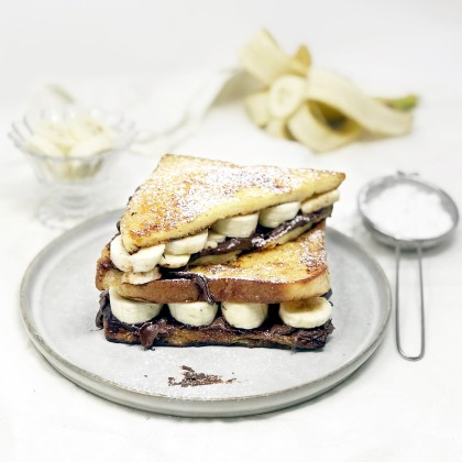 Chocolate-Banana French Toast