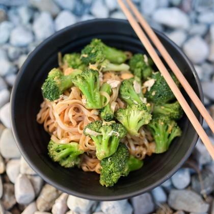 Phad Si Euw - Gebratene Reisnudeln mit Brokkoli