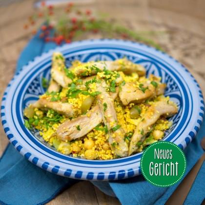 Couscous-Bowl mit gegrilltem Hühnerfleisch