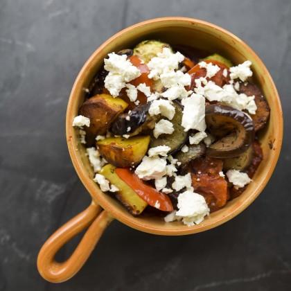Briam mit Feta (Kretischer Gemüseauflauf)