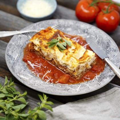 Lasagne al forno vom Weiderind mit Parmesan-Bechamel