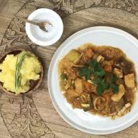 Best Beef Stew mit mashed potatoes