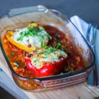 Gefüllte Paprika mit Bio-Rindfleisch