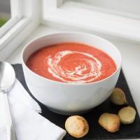 Tomaten-Kokossuppe