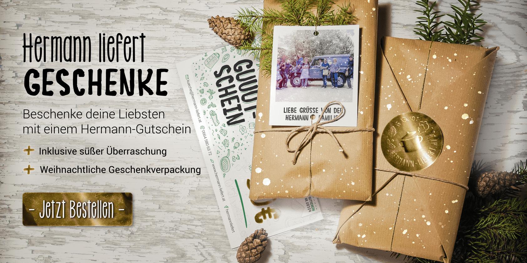 Hermann liefert Weihnachts-Geschenke